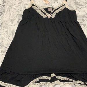 Victoria Secret black lace lingerie top .